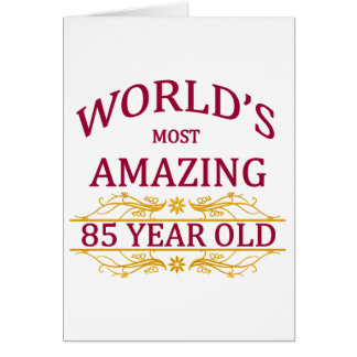 85th. Birthday Greeting Card