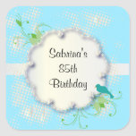 85th Birthday Party | DIY Text Square Sticker