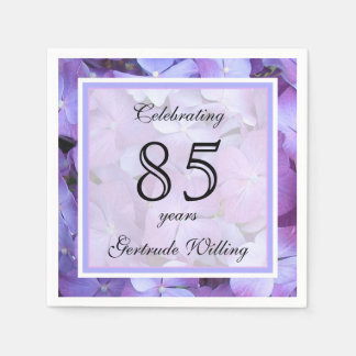 85th Birthday Party Paper Napkins Disposable Napkin