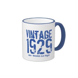 85th Birthday Vintage 1929 or Any Year V01DA Ringer Mug