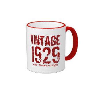 85th Birthday Vintage 1929 or Any Year V01DB Ringer Mug