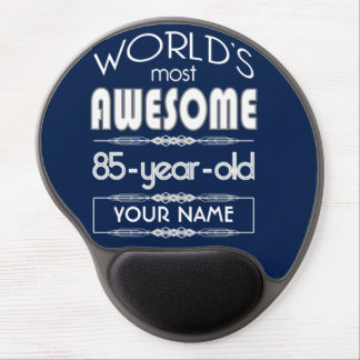 85th Birthday Worlds Best Fabulous Dark Blue Gel Mouse Pads