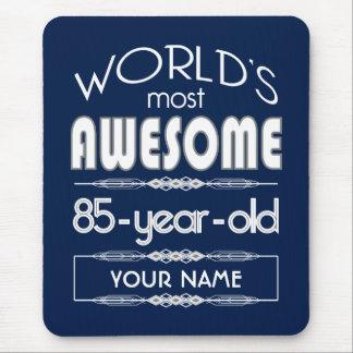 85th Birthday Worlds Best Fabulous Dark Blue Mousepad