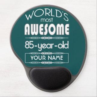85th Birthday Worlds Best Fabulous Dark Green Gel Mouse Pad