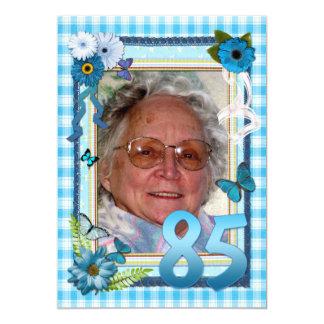 85th Photo birthday party invitation
