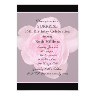 85th Surprise Birthday Party Invitation Rose