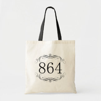 864 Area Code Tote Bags