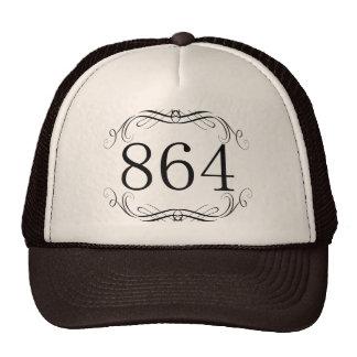 864 Area Code Trucker Hat