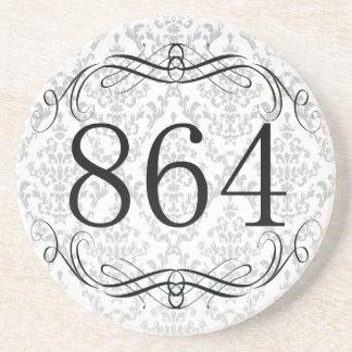864 Area Code Drink Coasters