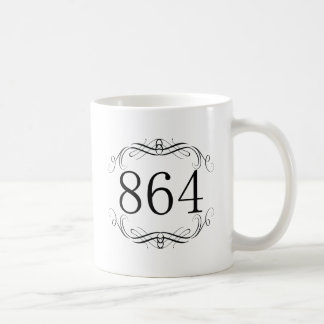 864 Area Code Classic White Coffee Mug