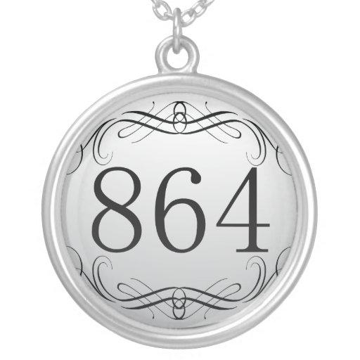 864 Area Code Necklace