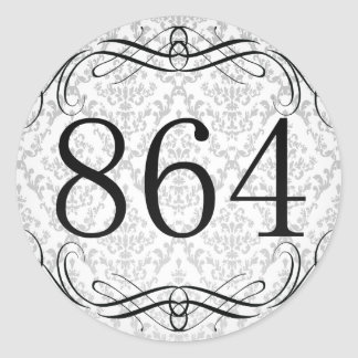 864 Area Code Round Stickers