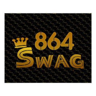 864 Area Code Swag Print