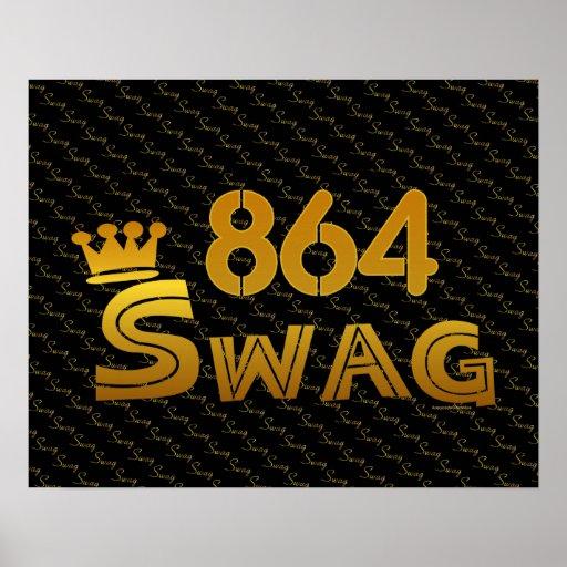 864 Area Code Swag Print