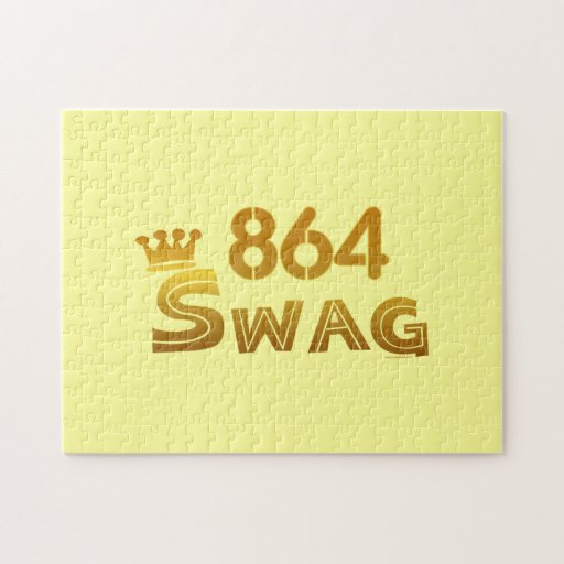 864 Area Code Swag Puzzles