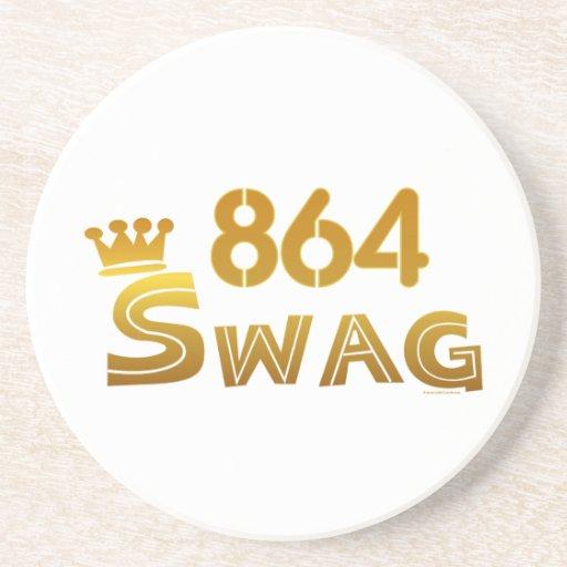 864 South Carolina Swag Beverage Coasters