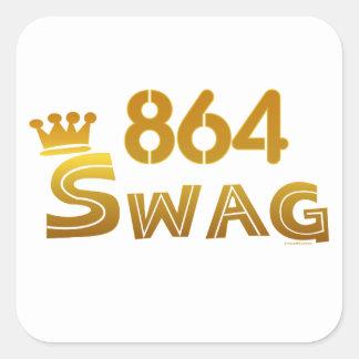 864 South Carolina Swag Square Sticker