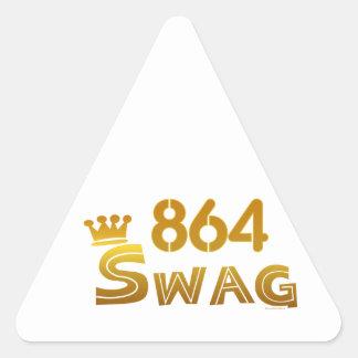 864 South Carolina Swag Triangle Sticker