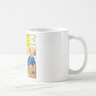 864 why so glum cartoon basic white mug