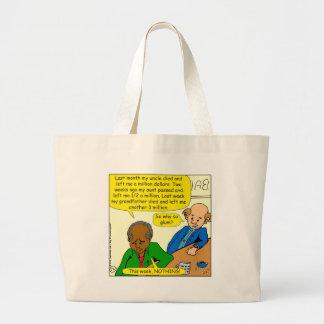 864 why so glum cartoon jumbo tote bag