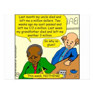 864 why so glum cartoon postcard