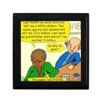 864 why so glum cartoon small square gift box