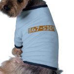 867-5309 RINGER DOG SHIRT