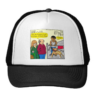 867 panic attack dog cartoon cap