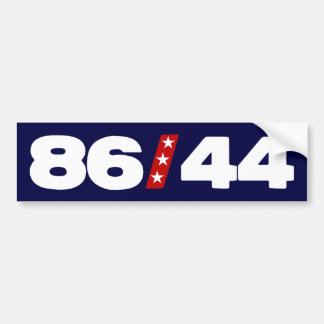 86 44 - Anti Barack Obama Bumper Sticker