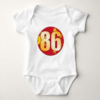 86 CHINA Gold Baby Bodysuit