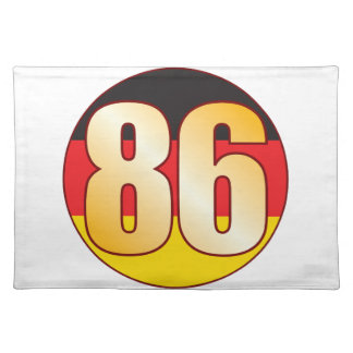 86 GERMANY Gold Placemat