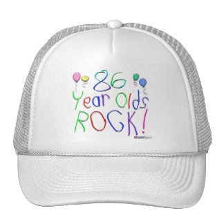 86 Year Olds Rock ! Mesh Hat