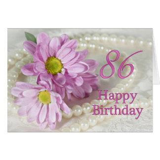 86th Birthday card with daisies