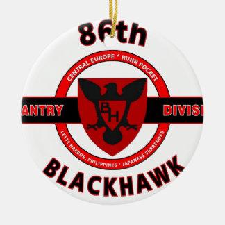 "86TH INFANTRY DIVISION ""BLACKHAWK"" DIVISION CHRISTMAS ORNAMENT"