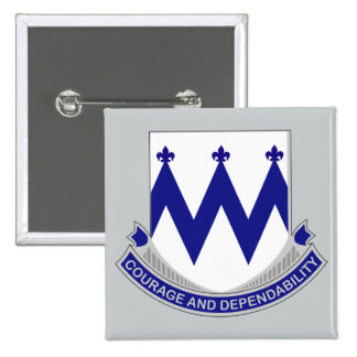 86th Infantry Regiment - Courage and Dependability 15 Cm Square Badge