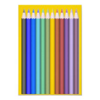 8774-coloured-pencils-2-vector RAINBOW COLORFUL PE 9 Cm X 13 Cm Invitation Card
