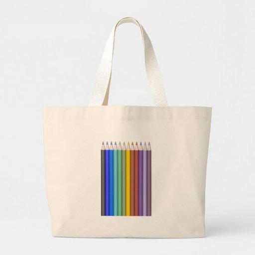 8774-coloured-pencils-2-vector RAINBOW COLORFUL PE Canvas Bag