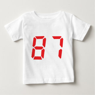 87 eighty-seven red alarm clock digital number shirts