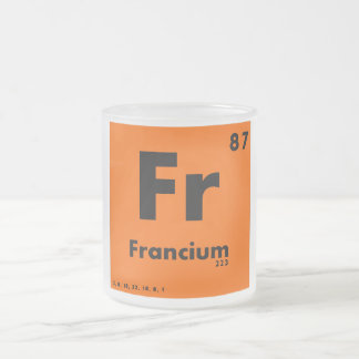 87 Francium   Periodic Table of Elements Frosted Glass Mug