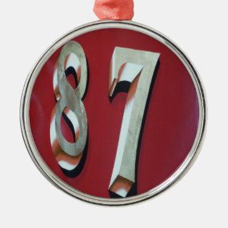 87 in gold christmas ornament