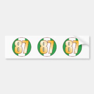 87 NIGERIA Gold Bumper Sticker