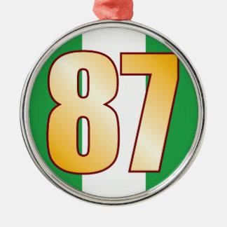 87 NIGERIA Gold Silver-Colored Round Decoration