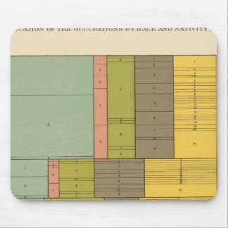 87 Occupations by race, nativity 1900 Mouse Pad