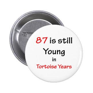87 Tortoise Years 6 Cm Round Badge