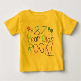87 Year Olds Rock ! Tee Shirts