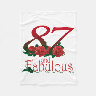 87th Birthday Fleece Blanket
