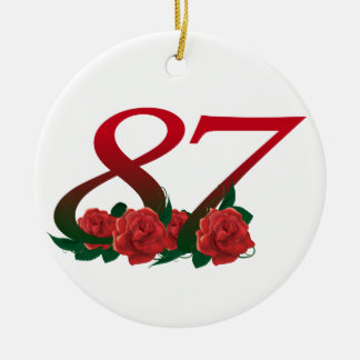 87th Birthday or Number 87 Ornament