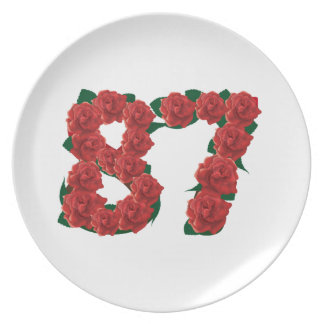 87th Birthday or Number 87 Plate