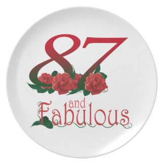 87th Birthday Plate