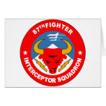 87th Fighter Interceptor Squadron Card